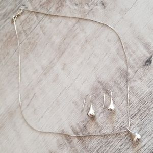 Silpada Tear Drop Set
